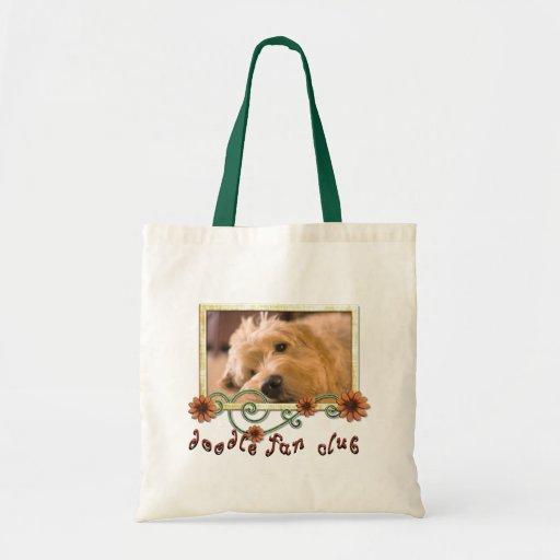 Doodle Fan Club Customizable Photo Canvas Bags