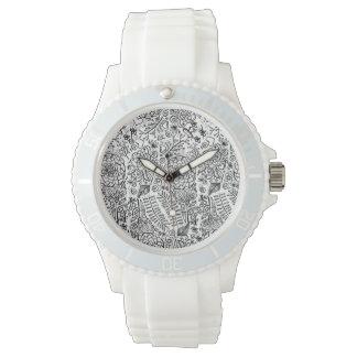 doodle floral watch