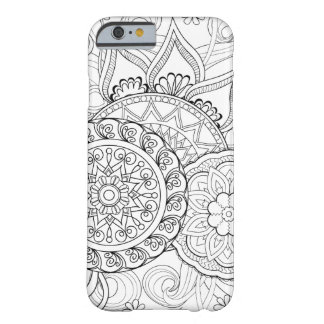 Doodle Flowers And Mandalas Barely There iPhone 6 Case