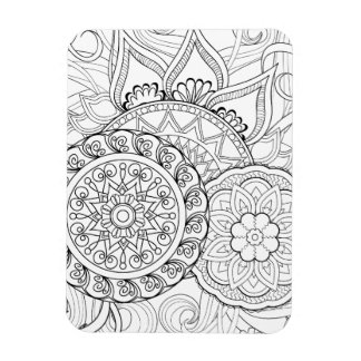 Doodle Flowers And Mandalas Magnet