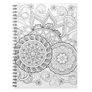 Doodle Flowers And Mandalas Notebook