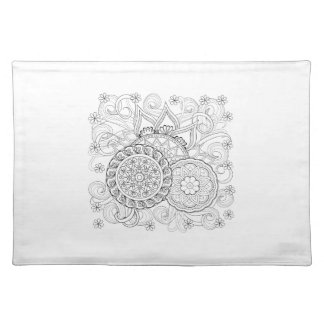 Doodle Flowers And Mandalas Placemat