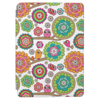 doodle flowers background pattern iPad air cover