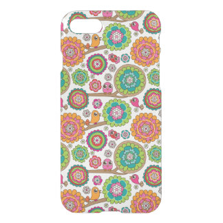 doodle flowers background pattern iPhone 8/7 case