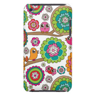 doodle flowers background pattern iPod touch covers