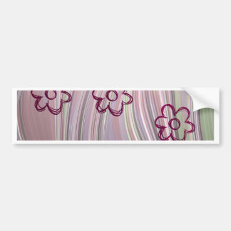 doodle flowers bumper stickers
