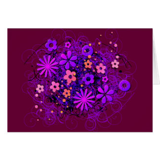 Doodle Flowers Greeting Card