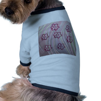 doodle flowers doggie t shirt
