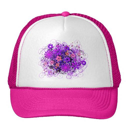 Doodle Flowers Hats