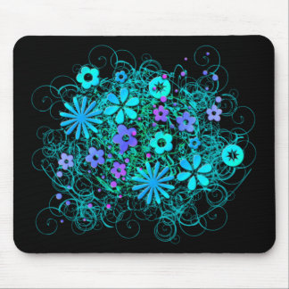 Doodle Flowers Mouse Pad
