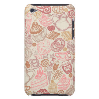 Doodle food pattern dessert barely there iPod case
