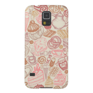 Doodle food pattern dessert galaxy s5 cover