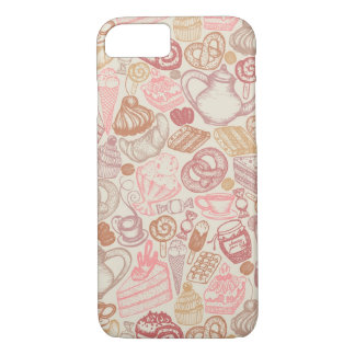 Doodle food pattern dessert iPhone 8/7 case