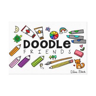 Doodle Friends Poster (with Doodles) Canvas Print