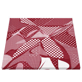 Doodle Fun 06 red Canvas Prints