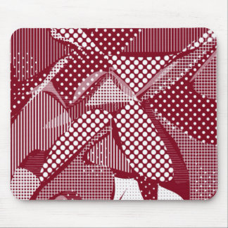 Doodle Fun 06 red Mouse Pads