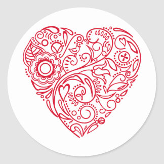 doodle heart stickers