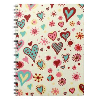 doodle heartsJournal Spiral Notebook