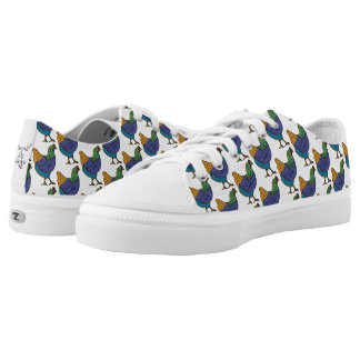 Doodle Hens Printed Shoes