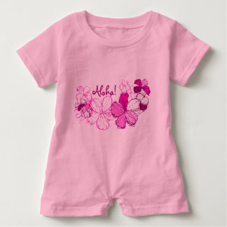 Doodle Hibiscus Hawaiian Aloha Baby Bodysuit
