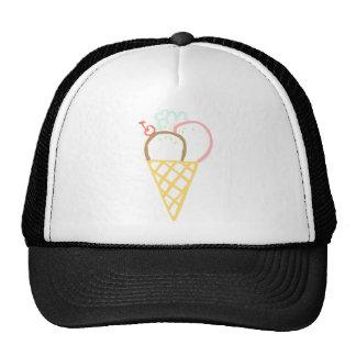 Doodle Ice Cream Cone Cap