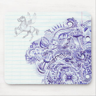 Doodle image created from KIds Art design Mouse Pad