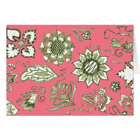 Doodle in Pink and Olive Card