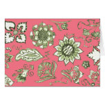 Doodle in Pink and Olive Stationery Note Card