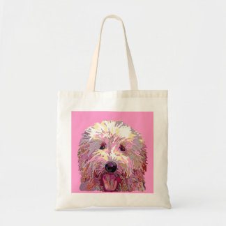 Doodle in Pink Dazzlilng Colors Tote Budget Tote Bag