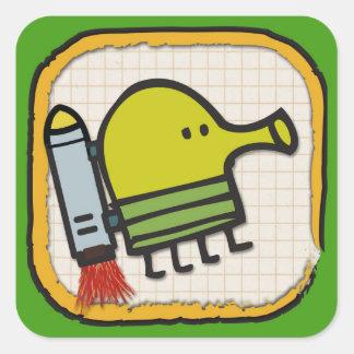 Doodle Jump Icon Square Sticker