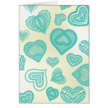 Doodle & Lace Fresh Teal hearts