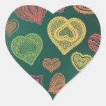Doodle & Lace Sunset Leaf hearts