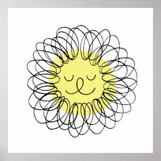 Doodle Lion Nursery Art Print