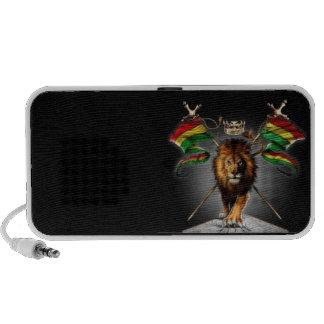 Doodle loudspeaker by OrigAudio™ Rastafari Lion Laptop Speakers