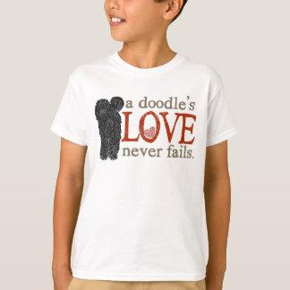 Doodle Love Never Fails - Black Goldendoodle T-Shirt