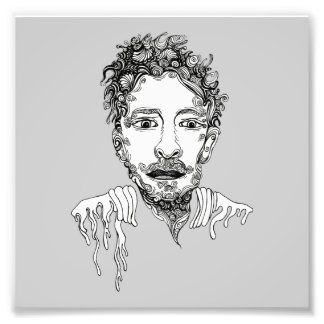 Doodle Man Photographic Print