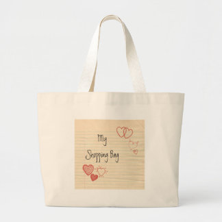 Doodle Notepad Love Letter Jumbo Tote Bag