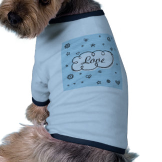 Doodle on School Paper Love Pet Tee Shirt