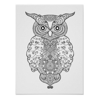 Doodle Owl 2 Poster