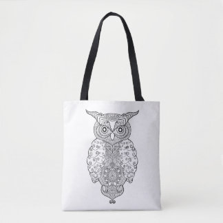 Doodle Owl 2 Tote Bag