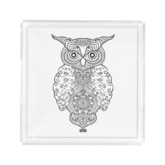 Doodle Owl Acrylic Tray