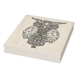 Doodle Owl Rubber Stamp