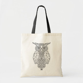 Doodle Owl Tote Bag