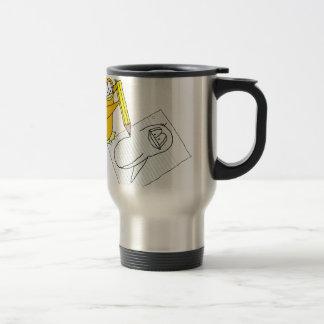 Doodle Penguin Travel Mug