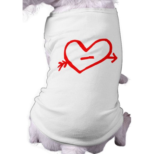 Doodle Red Cupid's Heart Pet Shirt