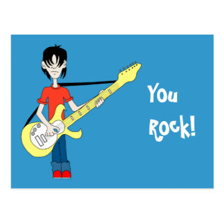 Doodle Rocker Postcard Template