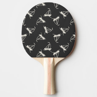 Doodle Sailboat Pattern Ping Pong Paddle