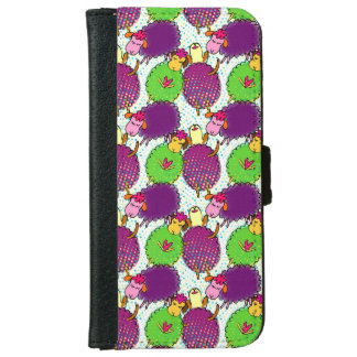 Doodle sheep with retro halftones. Girly gift. iPhone 6 Wallet Case