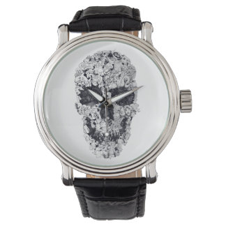 Doodle Skull Wrist Watches