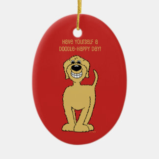 Doodle Smile blond Christmas Ornament